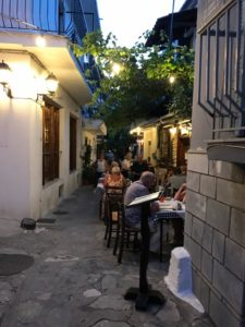 Skiathos Side Street Restaurants, Marmita Restaurant, Scuna Restuarant and Bourtzi Cafe